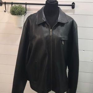 Wilsons Black Leather Jacket sz XL